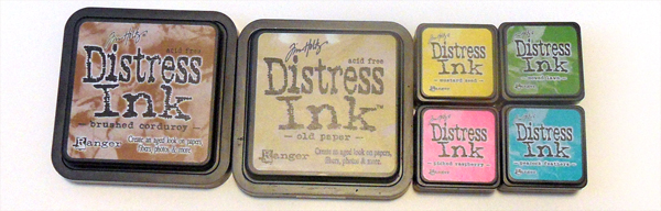 Tin Teddy Distress Ink Example