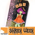 Tin Teddy Boo Witch Tag Tutorial