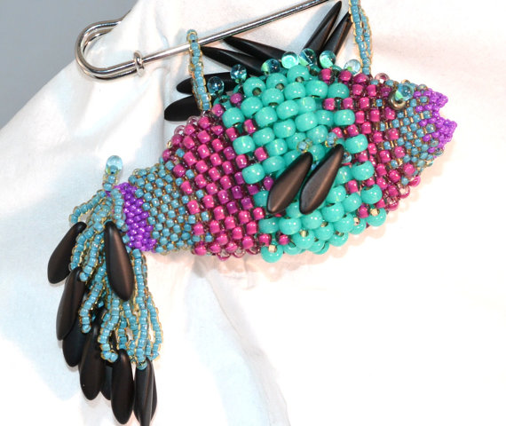 Beaded Scarf Pin by CloesCloset