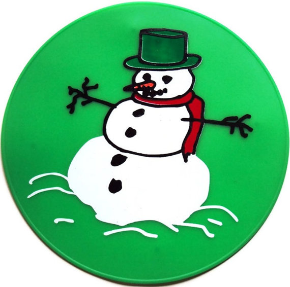 Green Snowman Placemat by altecenterprise