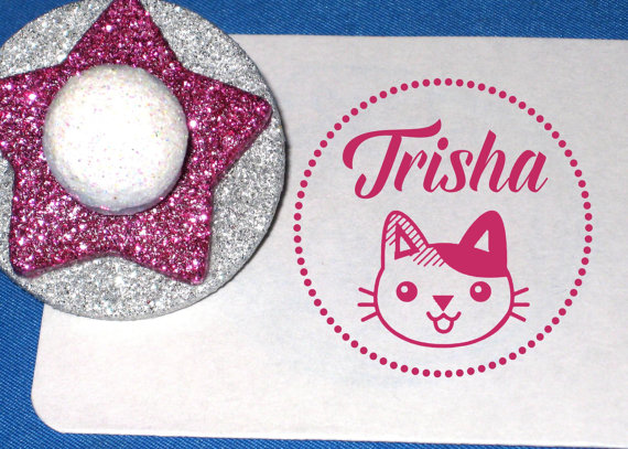 Personalized Cat Stamp by Remarkable Marks