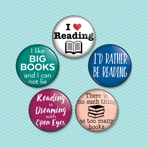 ReadingMagnet Set by heartandwillow