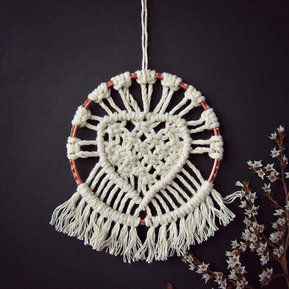 Macrame Heart Wall Art by RetoDecor