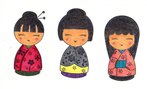 ColouredJapaneseDolls