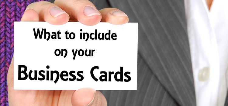 What to Include on your Business Cards – Advice for Craft Sellers