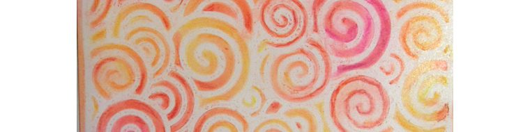 A Quick and Easy Background from Stencils and Pastels