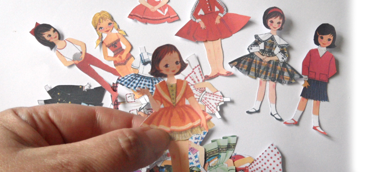 1950s Style Paper Doll Folding Card – Tutorial