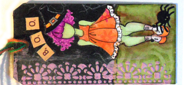 Mixed Media Tag Tutorial – Boo Witch – Shriek Week