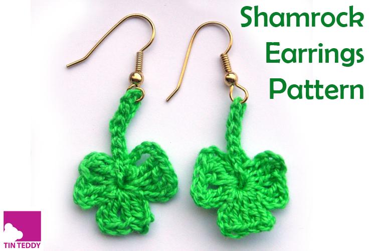 Tin Teddy Shamrock Earrings Pattern Free Pattern for St Patrick's Day