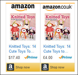 Examples of Amazon affiliate links