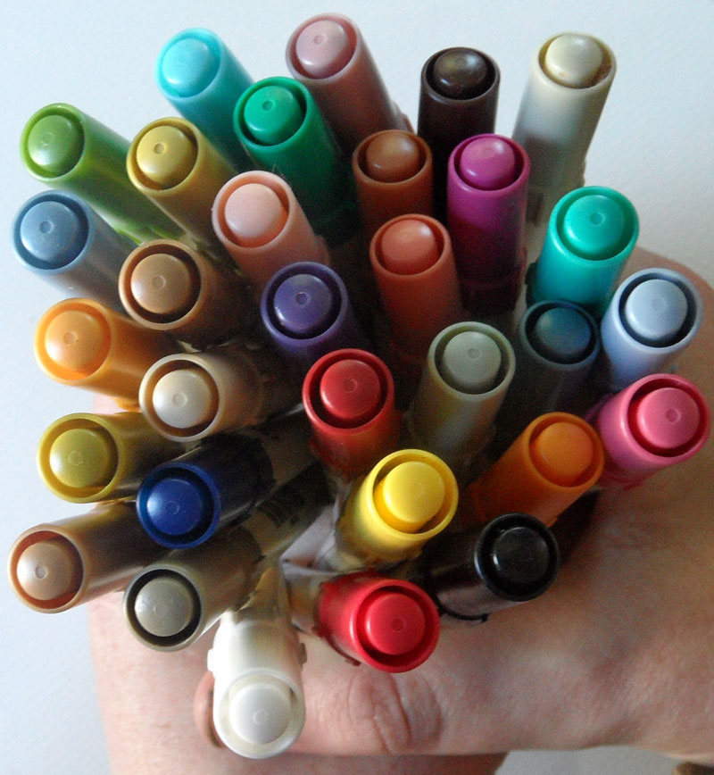 Handful of Tim Holtz Distress Markers